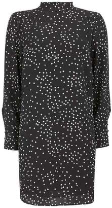Mint Velvet Black Spot Mini Dress