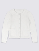 Marks and Spencer Pure Cotton Long Sleeve Cardigan (3 Months - 5 Years)