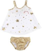 Little Marc Jacobs Sale - Star Iridescent 2 Piece Swimsuit