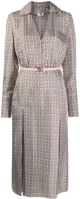 Fendi Floating Petals motif long-sleeved dress