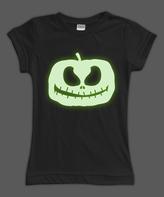 Urban Smalls Black Glow Jack-O'-Lantern Fitted Tee - Toddler & Girls