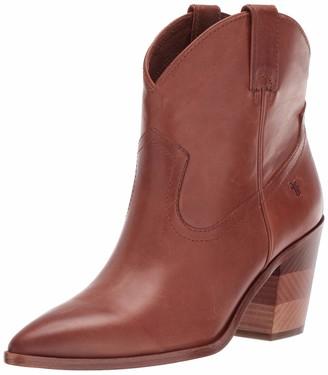 Frye Women's Faye Pull ON Short Ankle Boot cognac 7.5 M US