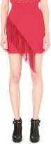 Maje Joan fringed crepe skirt