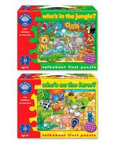 Fashion World Pack of 2 Animal Spotting Jigsaws