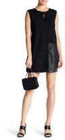 Jakett Cotton Sailcloth Vegan Leather Trim Dress