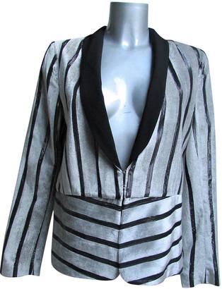 Ikks Anthracite Velvet Jacket for Women