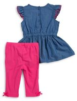 Kids Headquarters Chambray Tunic and Leggings Set