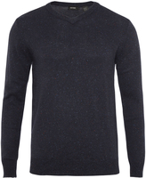 Oxford Brad Donegal V-Neck Pullover Blu X