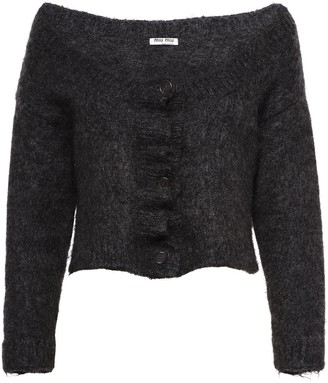 Miu Miu Textured Cropped Cardigan