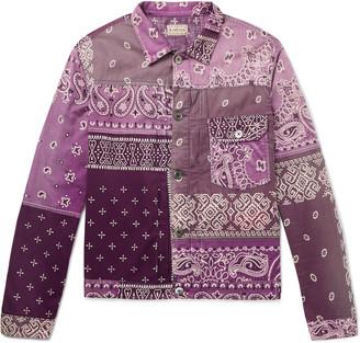 KAPITAL Patchwork Bandana-Print Cotton Trucker Jacket