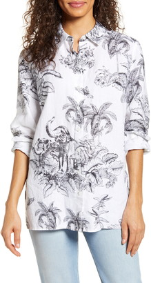 Tommy Bahama Toile of the Wild Long Sleeve Linen Shirt