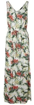 Dorothy Perkins Womens Vero Moda White Tropical Print Maxi Dress
