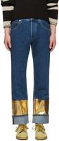 Loewe Indigo Gold Hem Jeans