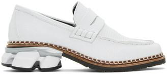 Miharayasuhiro White Snake Sneaker Sole Loafers