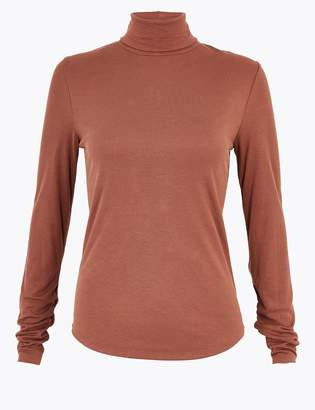 Per Una Per UnaMarks and Spencer Ribbed Turtle Neck Slim Fit Top