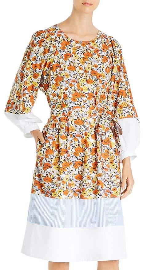 Tory Burch Mixed-Print Cotton Dress