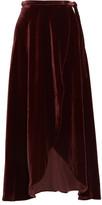 Reformation Velvet Wrap Skirt - Burgundy