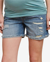 Jessica Simpson Maternity Distressed Denim Shorts