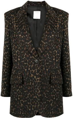 Sandro Single-Breasted Leopard Blazer