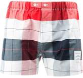 Thom Browne Boxer Short In Large Buffalo Check Oxford