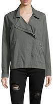 Splendid Cotton Poplin Asymmetrical Zip Jacket