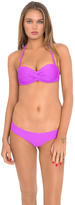 Luli Fama Cosita Buena Underwire Push Up Bandeau In Purple Ocean (L176083)