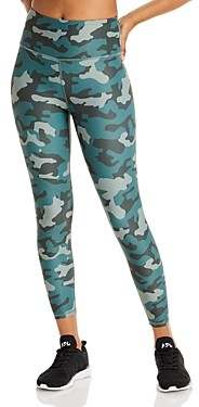 Aqua Athletic Camo Print Knit Leggings - 100% Exclusive