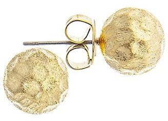 Rivka Friedman 18K Yellow Goldplated Hammered Stud Earrings