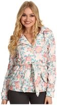 Dollhouse Belted SB Trench w/ Front Back Rain Shields (Floral Print) - Apparel