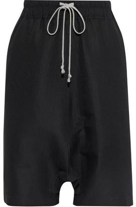 Rick Owens Textured Cotton And Silk-blend Shorts