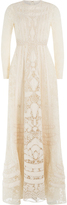 Valentino Embellished Lace FLoor Length Gown