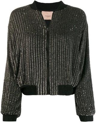 Twin-Set embellished bomber jacket