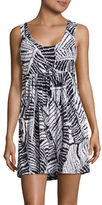 J Valdi Printed Sleeveless Coverup