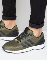 adidas Zx Flux Trainers In Gold