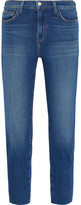 L'Agence Marcelle Cropped Low-rise Skinny Jeans - Mid denim