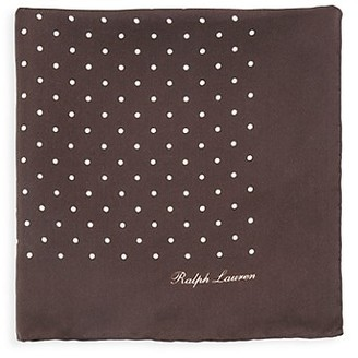 Ralph Lauren Purple Label Polka Dot Silk Pocket Square