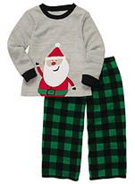 Carter's Boys' 4-12 Grey 2-pc. Long Sleeve Santa Pajama Set