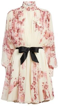 Giambattista Valli Silk Floral Mini Dress