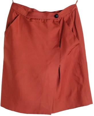 Saint Laurent Orange Silk Skirts
