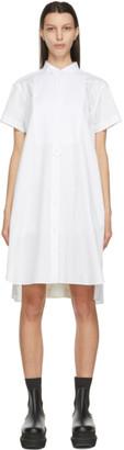 Sacai White Poplin Shirt Dress