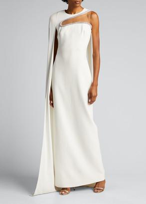 Stella McCartney Ariette Embellished Column Cape Dress