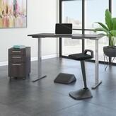 Möve 60 Series Height Adjustable Standing Desk Bush Business Furniture Color: Storm Gray