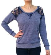 Point Zero Women's Lace Shoulder Sweatshirt