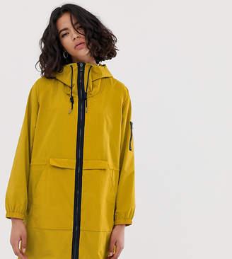 Esprit nylon lightweight parka jacket in mustard-Yellow