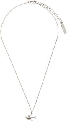 McQ Silver Swallows Necklace