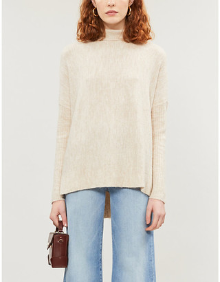 Happy X Nature Turtleneck stretch-knit jumper