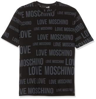 Love Moschino Men's Allover Short Sleeve T-Shirt