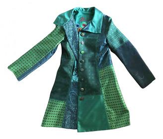 Desigual Green Cotton Coats