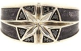David Yurman 925 Sterling Silver Black Diamond Small North Star Ring Size 9