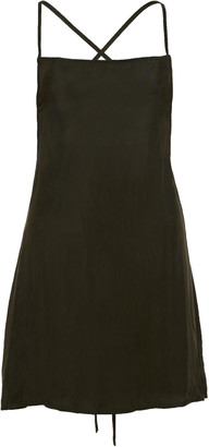 Anemos Tie-Back Washed-Georgette Mini Dress